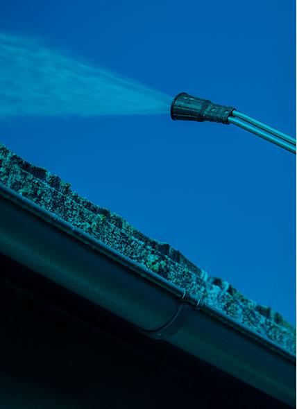 Algebehandling af tag, gangareal eller facade
